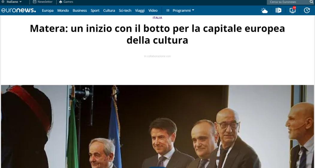 Matera: un inizio con il botto per la capitale europea della cultura - IPOGEA