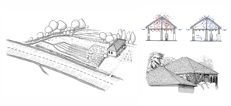 Sheki garden-system and roofs - Restoration Manual- IPOGEA