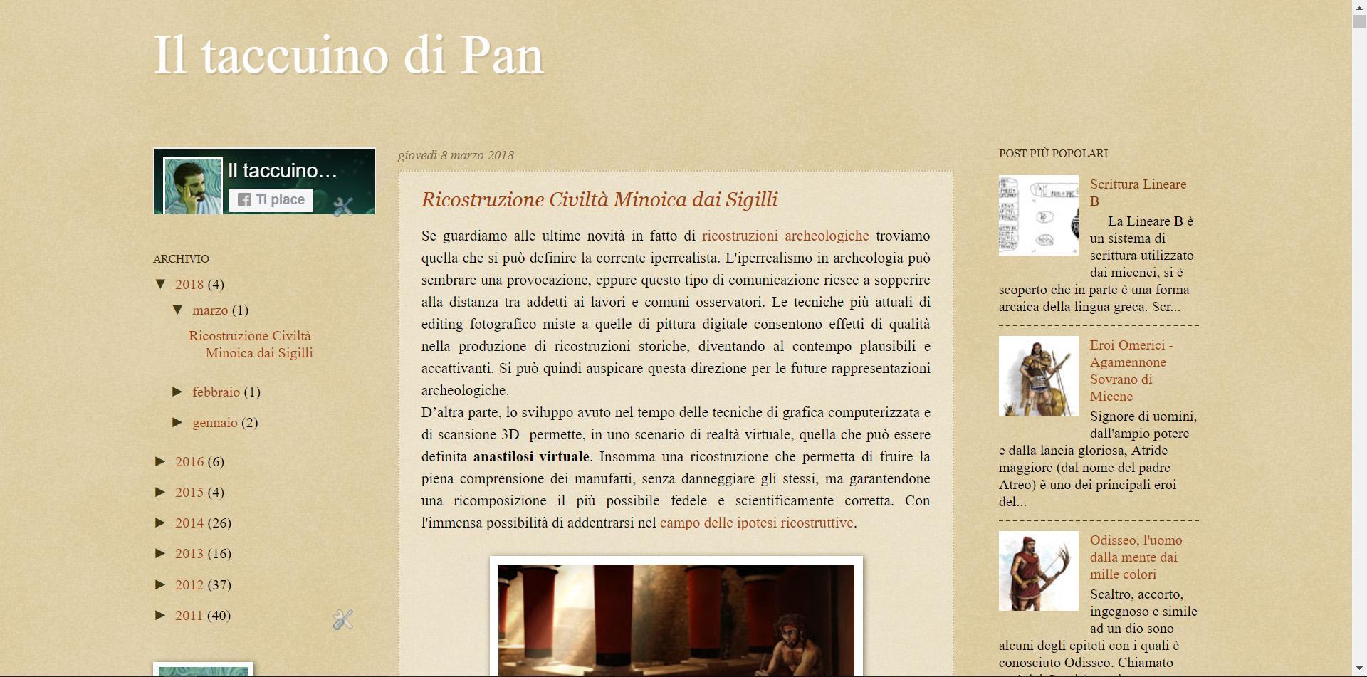 Blog personale, taccuino di Pan, Panaiotis Kruklidis, illustratore, architetto, portfolio, grafica, ricostruzioni